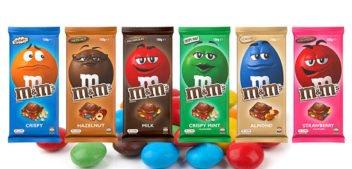 M&M's launches block-chocolate range